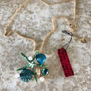 [NWT] Betsey Johnson Starfish Necklace/Brooch